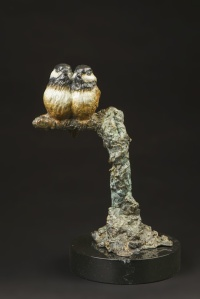 Coeur de mésanges, bronze