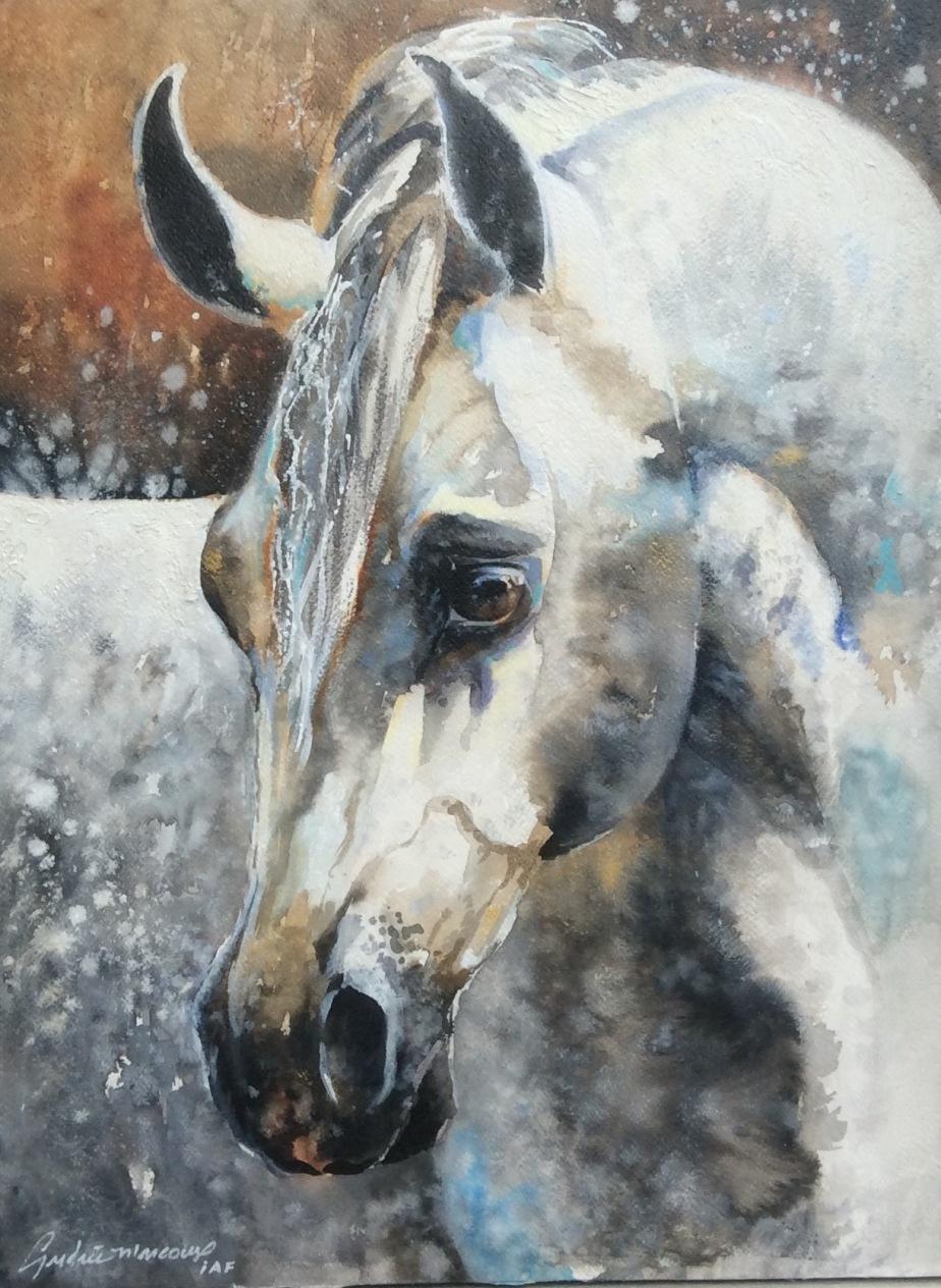 Douceur-aquarelle-20x16 p.-Andrée Marcoux