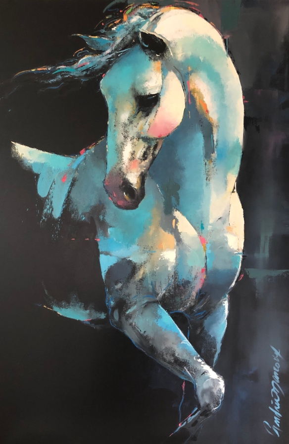 Ballerino_Huile/oil_60 x 40p/inch._Andrée Marcou